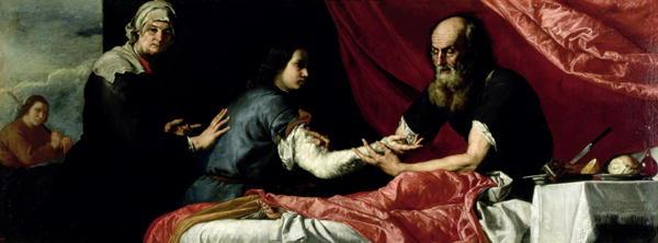 Isaac Blessing Jacob 1637 | Jusepe de Ribera | oil painting