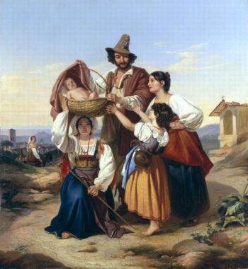 Italian Herdsman 1835 | Leopold Pollak | oil painting