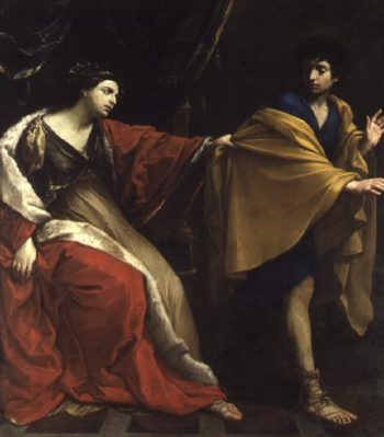 Joseph and Potiphar's Wife 1626 | Guido Reni | oil painting