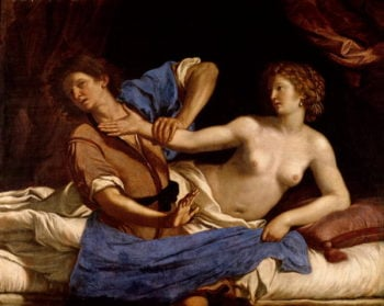 Joseph and the Wife of Potiphar 1649 | Guercino | oil painting