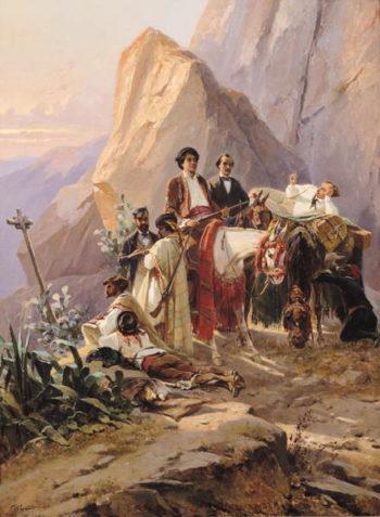 Journey from Paris to Cadiz 1846 | Eugene Giraud | oil painting