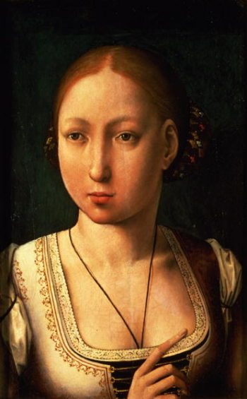 Juana or Joanna of Castile called `The Mad' | Juan de Flandes | oil painting