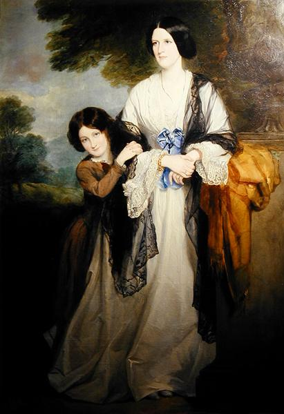 Juliana Countess of Leicester with her eldest child Lady Julia Coke | Sir Francis Grant | oil painting