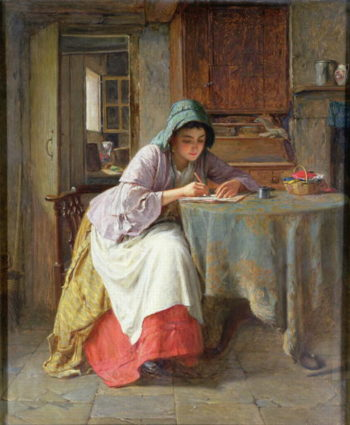 Katie's Letter | Haynes King | oil painting