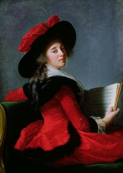 La Baronne de Crussol 1785 | Elisabeth Louise Vigee Lebrun | oil painting