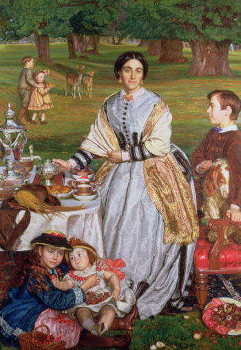 Lady Fairbairn with her Children 1864 | William Holman Hunt | oil painting