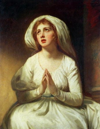 Lady Hamilton Praying | George Romney | oil painting