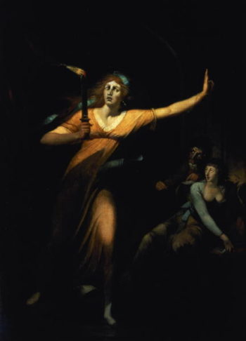 Lady Macbeth Sleepwalking 1783 | Henry Fuseli | oil painting