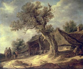 Landscape with an Oak 1634 | Jacob Isaaksz or Isaacksz van Ruisdael | oil painting