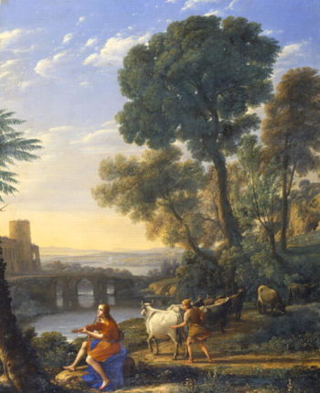 Landscape with Apollo Guarding the Herds of Admetus | Claude Lorrain | oil painting