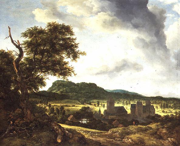 Landscape with a Village 1650 55 | Jacob Isaaksz or Isaacksz van Ruisdael | oil painting