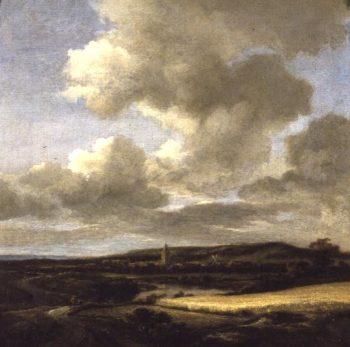 Landscape with Cornfield | Jacob Isaaksz or Isaacksz van Ruisdael | oil painting