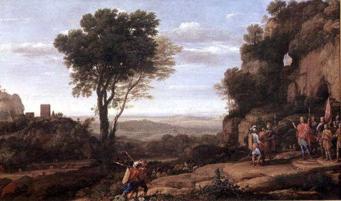 Landscape with David at the Cave of Abdullam 1658 | Claude Lorrain | oil painting