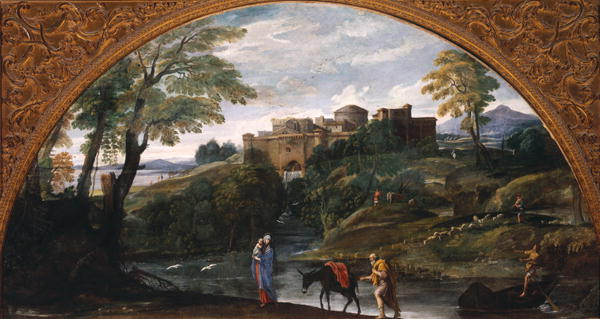 Landscape with the Flight into Egypt | Annibale Carracci | oil painting