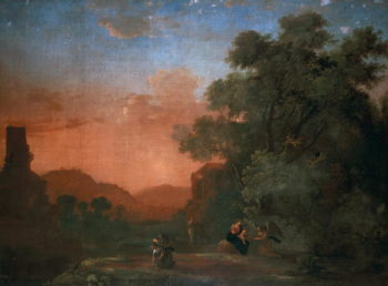 Landscape with the Flight into Egypt | Herman van Swanevelt | oil painting