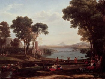 Landscape with the Marriage of Isaac and Rebekah | Claude Lorrain | oil painting