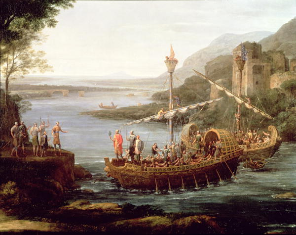 Landscape with the arrival of Aeneas at Pallanteum | Claude Lorrain | oil painting