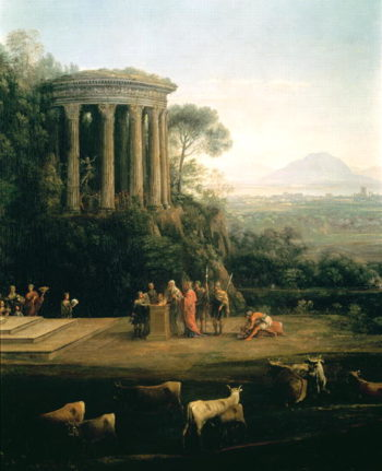Landscape with the Father of Psyche sacrificing to Apollo | Claude Lorrain | oil painting