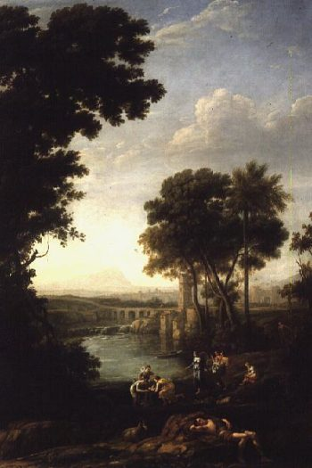 Landscape with the Finding of Moses | Claude Lorrain | oil painting