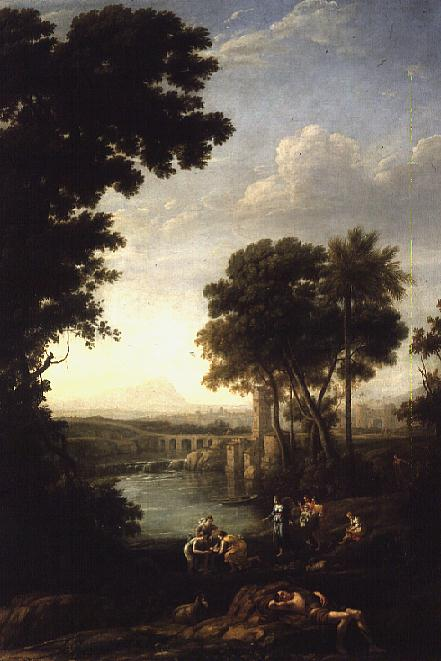 Landscape with the Finding of Moses   Claude Lorrain   oil painting
