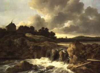 Landscape with Waterfall 1670 | Jacob Isaaksz or Isaacksz van Ruisdael | oil painting