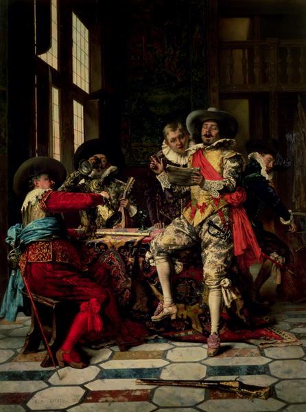 Les Chanteurs | Adolphe Alexandre Lesrel | oil painting