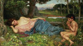 Listen to my Sweet Pipings 1911 | John William Waterhouse | oil painting