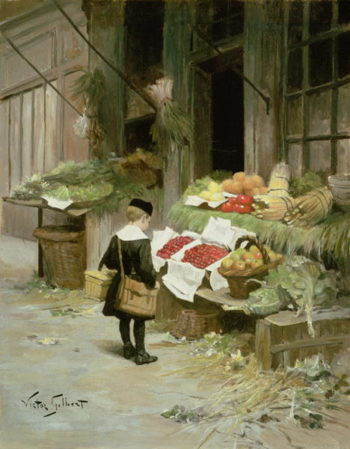 Little Boy at the Market | Victor Gabriel Gilbert | oil painting