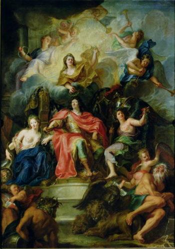 Louis XIV   Antoine Coypel   oil painting