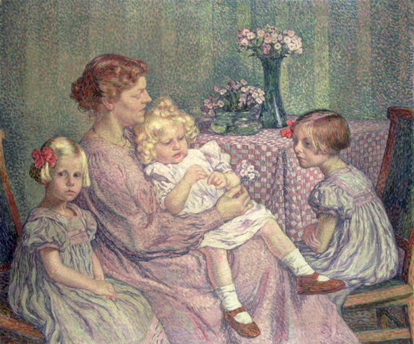 Madame van de Velde and her Children 1903 | Theo van Rysselberghe | oil painting