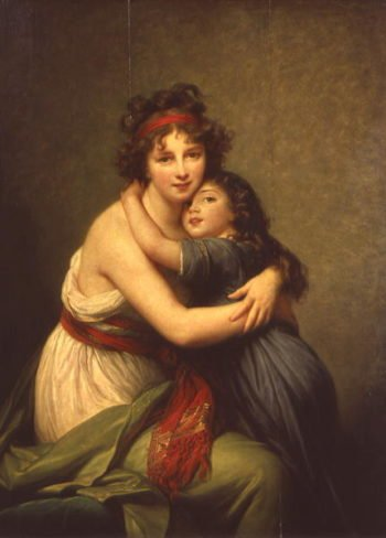 Madame Vigee Lebrun and her Daughter Jeanne Lucie Louise | Elisabeth Louise Vigee Lebrun | oil painting