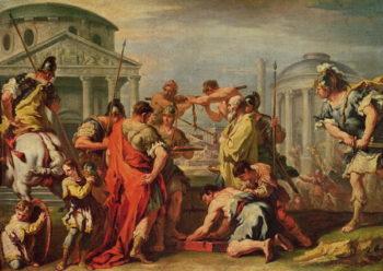 Marcus Furius Camillus | Sebastiano Ricci | oil painting