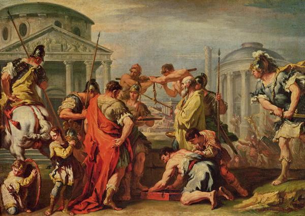 Marcus Furius Camillus   Sebastiano Ricci   oil painting