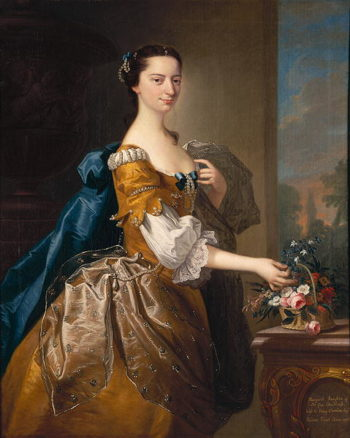Margaret Daughter of Sir George Chudleigh Married Henry Oxendon | Thomas Hudson | oil painting