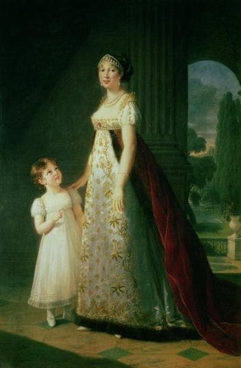 Maria Carolina Bonaparte | Elisabeth Louise Vigee Lebrun | oil painting