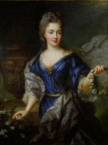 Marie Anne de Bourbon | Nicholas de Largilliere | oil painting
