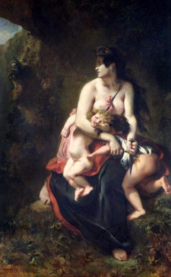 Medea 1838   Eugene Delacroix   oil painting