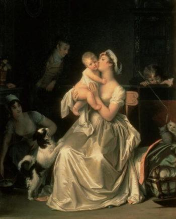 Motherhood 1805 | Marguerite Gerard | oil painting
