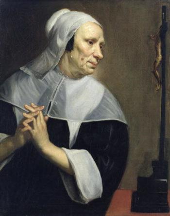 Old Woman Praying | Jacob van Oost | oil painting