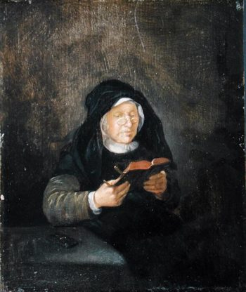 Old Woman Reading 1650s | Quiringh Gerritsz van Brekelenkam | oil painting