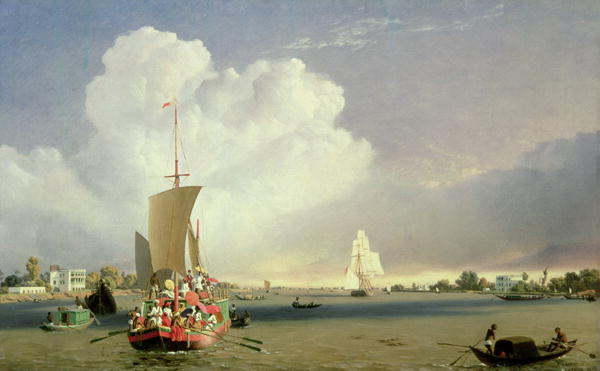 On the Hoogly River at Garden Reach below Calcutta 1852 | C J Martin | oil painting