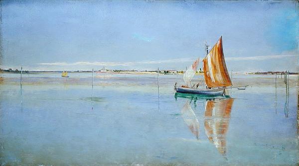 On the Lagoon Venice | John William Inchbold | oil painting