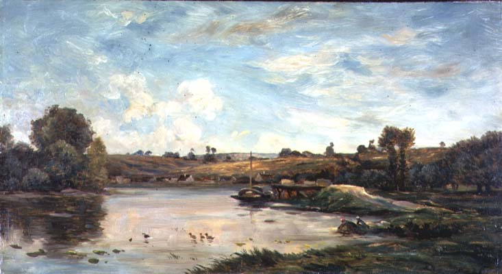On the Loire | Charles Francois Daubigny | oil painting