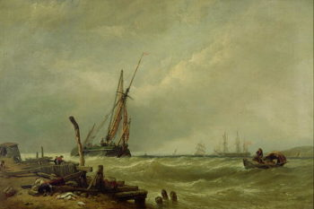 On the Texel 1856 | William Clarkson Stanfield | oil painting