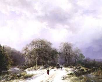 On the Way to Market | Barend Cornelis Koekkoek | oil painting