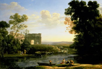 Pastoral Capriccio with the Arch of Constantinople | Claude Lorrain | oil painting