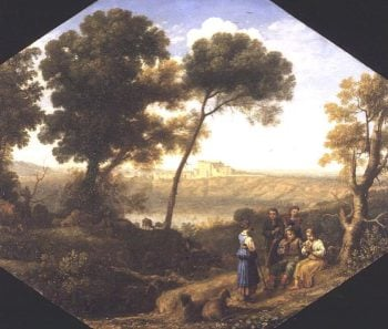 Pastoral landscape with a view of Lake Albano and Castel Gondolfo 1639 | Claude Lorrain | oil painting