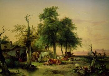Pasture land | Friedrich Gauermann | oil painting