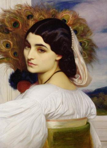 Pavonia 1859   Frederic Leighton   oil painting