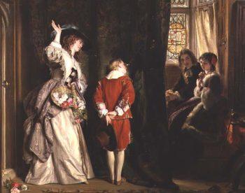 Pay for Peeping 1872 | John Callcott Horsley | oil painting